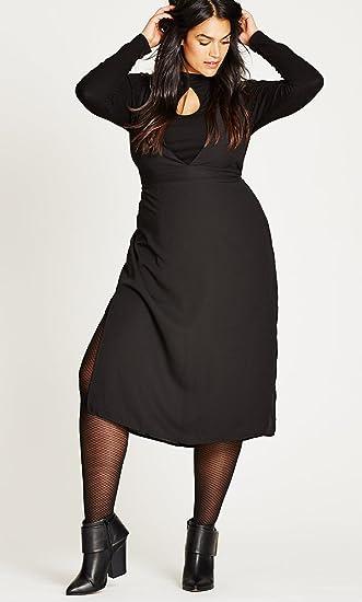 Designer Plus Size DRESS LL OVERALL - Black - 16 / S   City ...