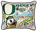 OREGON, UNIVERSITY OF COLLEGIATE EMBROIDERED PILLOW - CATSTUDIO