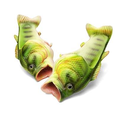 Fisch Hausschuhe Sommer Strand Pantoffeln Paar Kreative Gifts Fisch Schuhe EVA Simulation Fisch Eltern-Kind Flach...