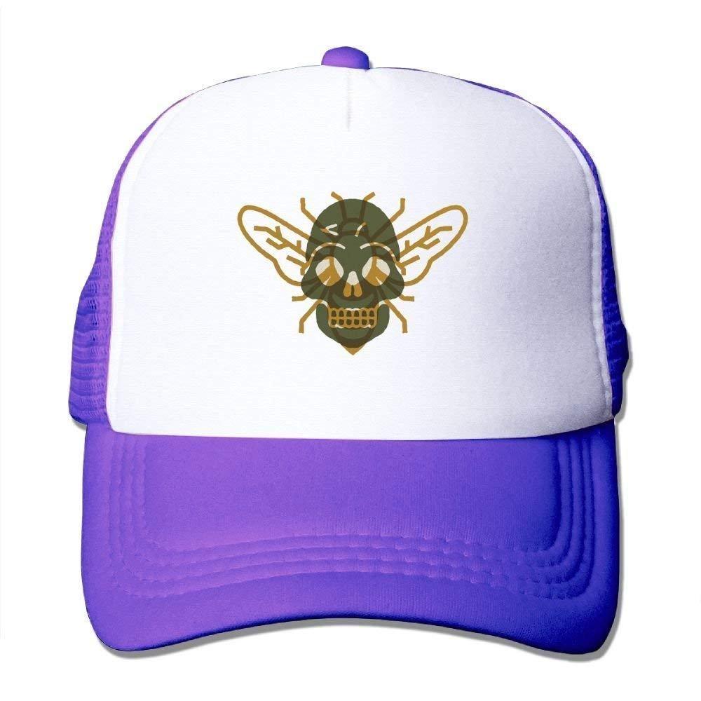 Amazon.com  Mewisx Bee Bones Adjustable Snapback Baseball Cap Mesh Trucker  Hat  Clothing e30eb31176d