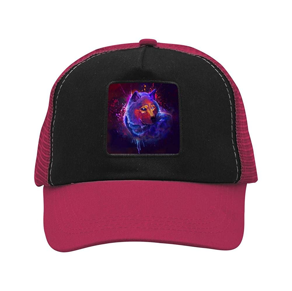 Adult Mesh Cap Hat Adjustable for Men Women Unisex,Print A Graffiti Wolf