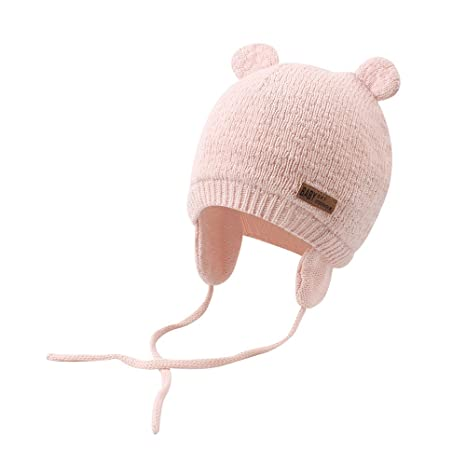 b87fe2b1cb7 XIAOHAWANG Baby Hat Cute Bear Toddler Earflap Beanie Warm for Fall Winter