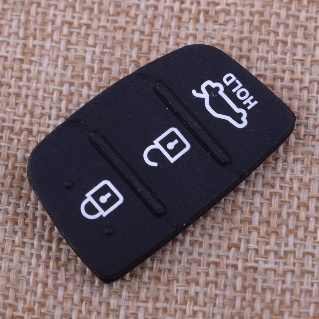 Citall 3 Tasten Silikon Fernbedienung Tastenfeld Schutzkappe Schwarz Auto