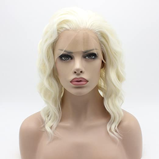 Wavy Light Blonde Medium Length Thor Costume Wig - DeluxeAdultCostumes.com