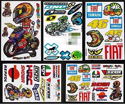 Valentino Rossi sticker sheet 11 stickers in total