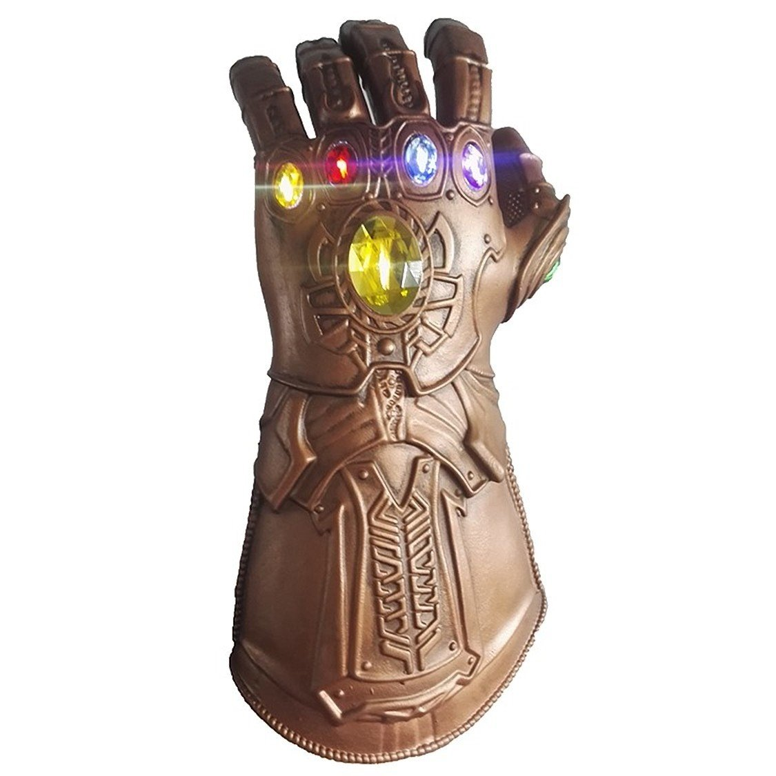 LED Thanos Superhero Avengers Infinity Gold Gauntlet Glove Luminous Stones