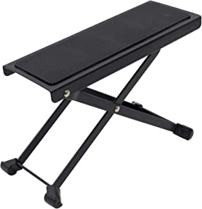 EASTROCK Guitar Foot Stool Height Adjustable Folding Foot Rest Made of Solid Iron Guitar Foot Stand For Classical Guitar
