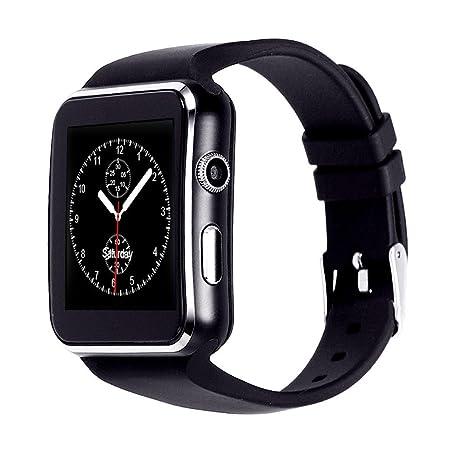 INDI X6 Bluetooth Smart Watch con cámara soporta tarjeta SIM TF tarjeta de pulsera teléfono reloj