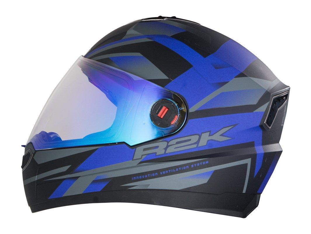 b4b61369 2)Steelbird R2K Night Vision Men's Helmet Matt Finish With Day Night Dual  Action Visor (Matt White / Grey, 600 Mm Large)