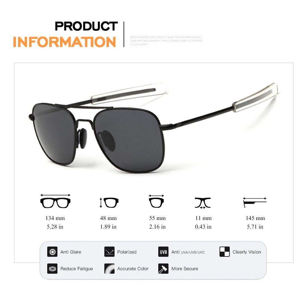284369c950 Amazon.com  WPF Retro Polarized Sunglasses Aviator Sun Glasses for Men (As  Picture