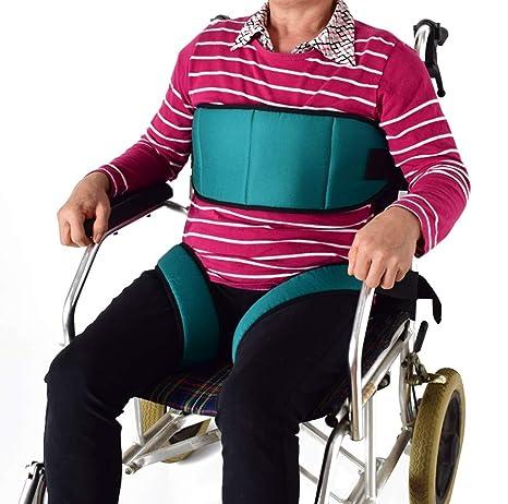 SXTYRL cinturón de Seguridad para Silla de Ruedas Cinturón de sujeción Abdominal Ajustable para Pecho Cintura
