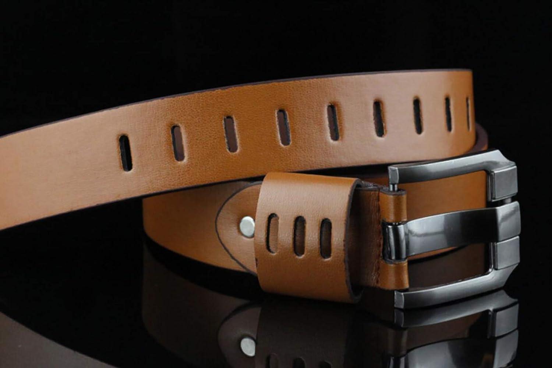 Irypulse Cintur/ón hombres Vintage Cuero de PU de metal giratoria para de hebilla lujo de alta calidad vintage Adecuado Para Jeans Ropa Trabajo Casual Formal Hombre Cinturones