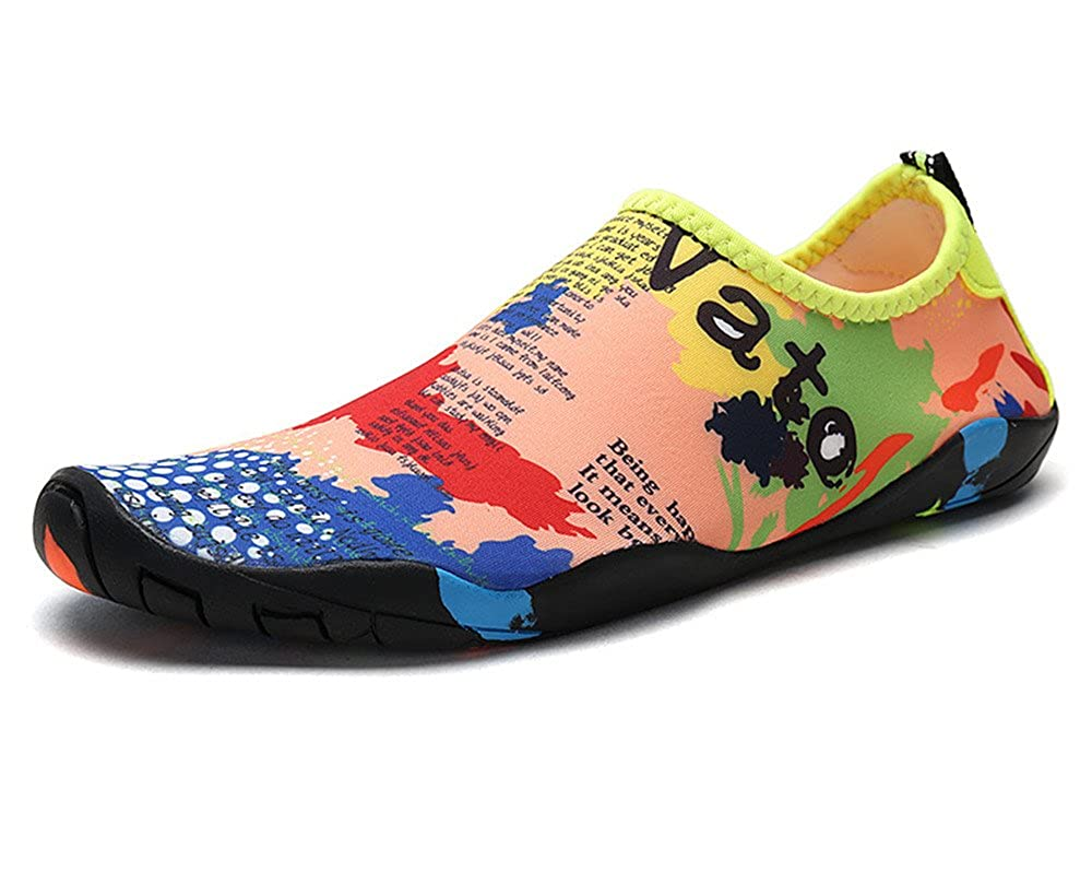 xiaoyang Mens Womens Water Shoes Quick Dry Barefoot for Swim Diving Surf Sports Pool Beach Walking Yoga