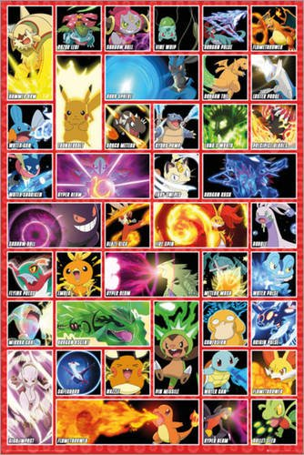 Poster Pokemon Moves Reasonably Priced Poster Xxl Wall