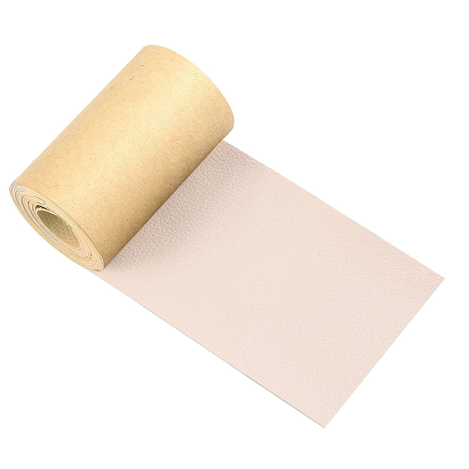 Leather Repair Tape, 3 X 60 Inch Self-Adhesive Leather Repair Patch, Upholstery Repair Tape for Furniture, Couches, Sofas, Car Seats, Driver Seat, Handbags, Jackets, Shoes (Beige, 3X60 inch)