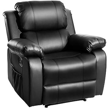 Amazon Com Merax Barwick Pu Heated Massage Recliner Sofa Ergonomic