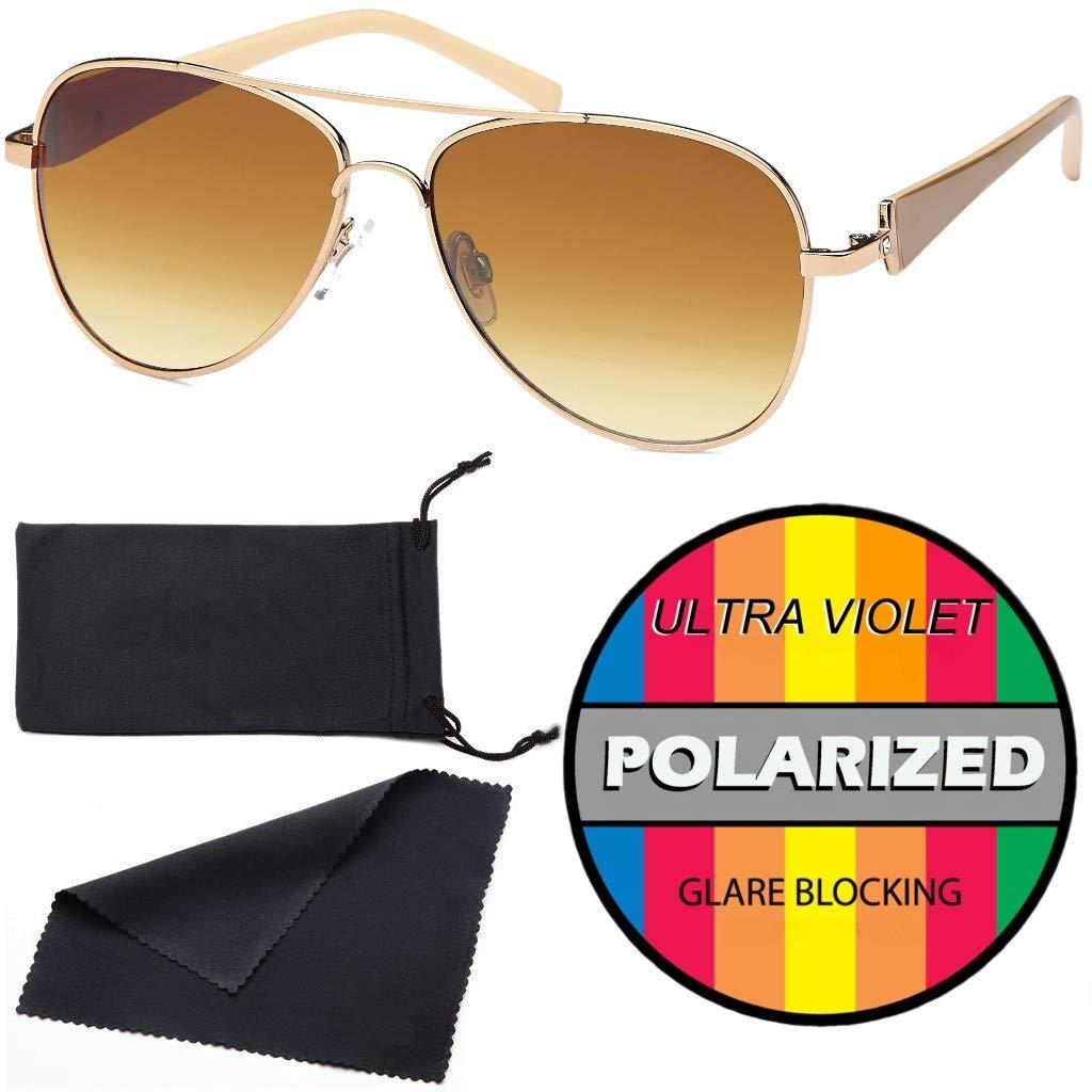 Sonnenbrille mit lackierten B/ügeln und Strassstein Hatstar elegante Damen Pilotenbrille get/önt