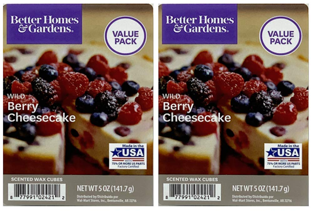 Better Homes and Gardens Wild Berry Cheesecake Wax Cubes 5oz - 2-Pack