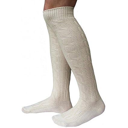 LARGAS calcetines calcetines para calcetines hasta la rodilla pantalones de cuero Bund Naturaleza (38-
