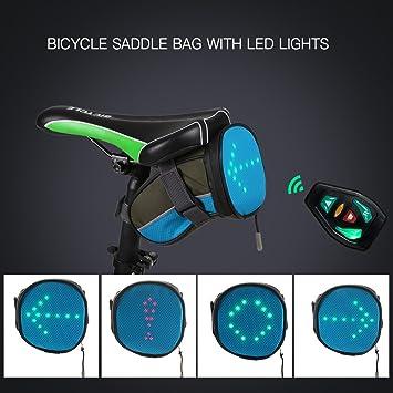 Explopur Bolsa de Sillín de Bicicleta - Ligero USB Recargable ...