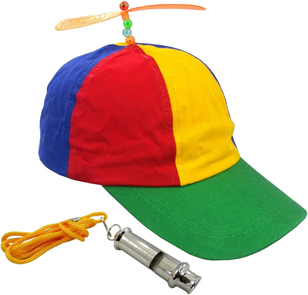 MULTI COLOR PROPELLER CAP HAT ADULT HALLOWEEN COSTUME ACCESSORY-NEW /& IMPROVED!