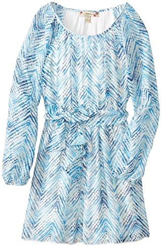 Speechless Big Girls' Chevron Striped Chiffon Dress