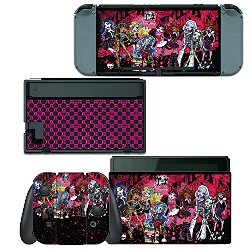 Decals Plus Skin Cover Sticker Wrap for Nintendo Switch Console Joy-Con and Dock (Monster High Switch)