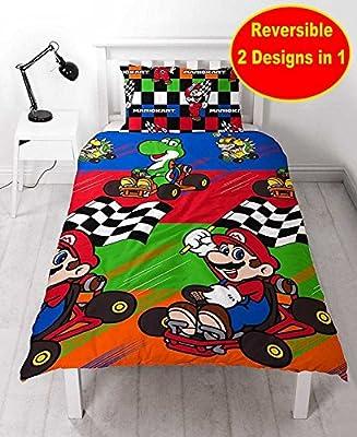 Nintendo Mario 'Champs' Single Duvet Cover Set - Repeat Print Design