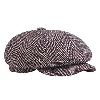 0c52680974f Zedo Unisex Autumn Winter Berets for Man Casual Warm Beret Hat Cap  Octagonal Hat Newspaper Hat