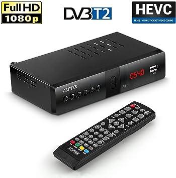 AGPtek decodificador TDT HDTV Receptor DVB-T/DVB-T2 Tuner converteur Digital Terrestre 1080P Caja TV HDMI TERMINAL adaptador USB, reproductor multimedia, Analogue (grabación y Direct Pause TV: Amazon.es: Electrónica