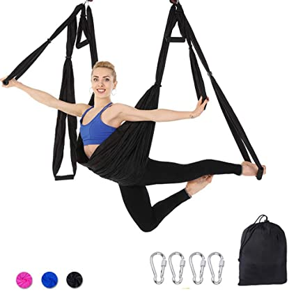 Amazon.com: Aerial Yoga Hammock - Ultra Strong Antigravity ...