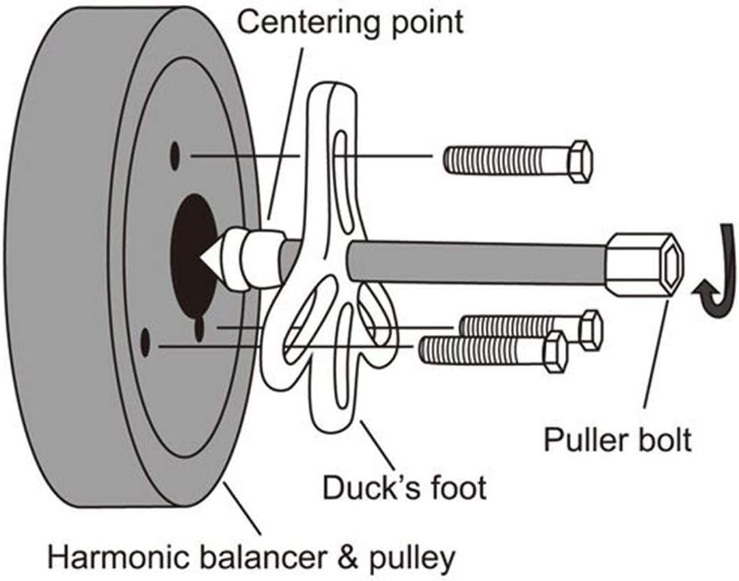 Steering Wheel Pulley Puller Flywheel Crankshaft Thorstone 46pcs Harmonic Balancer Puller Set