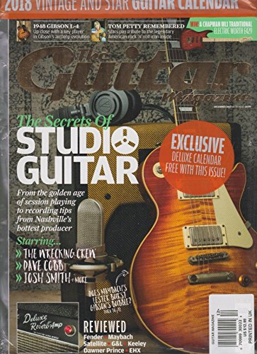 THE GUITAR MAGAZINE DEC 2017, SEALED W/2018 VINTAGE & STAR GUITAR - Priority Flat International Rate Mail