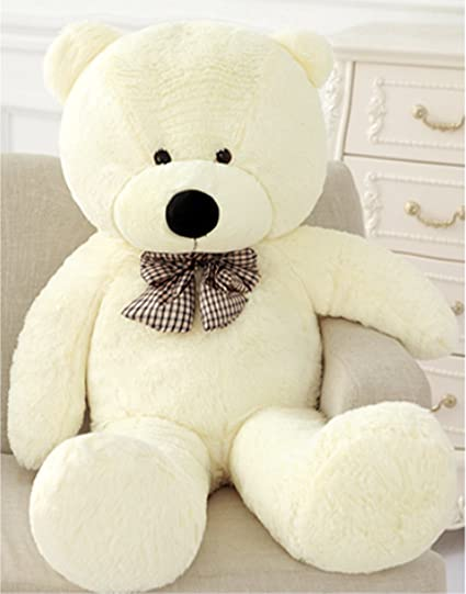 Oso de peluche gigante de Vercart, color blanco, gran idea de regalo Talla: