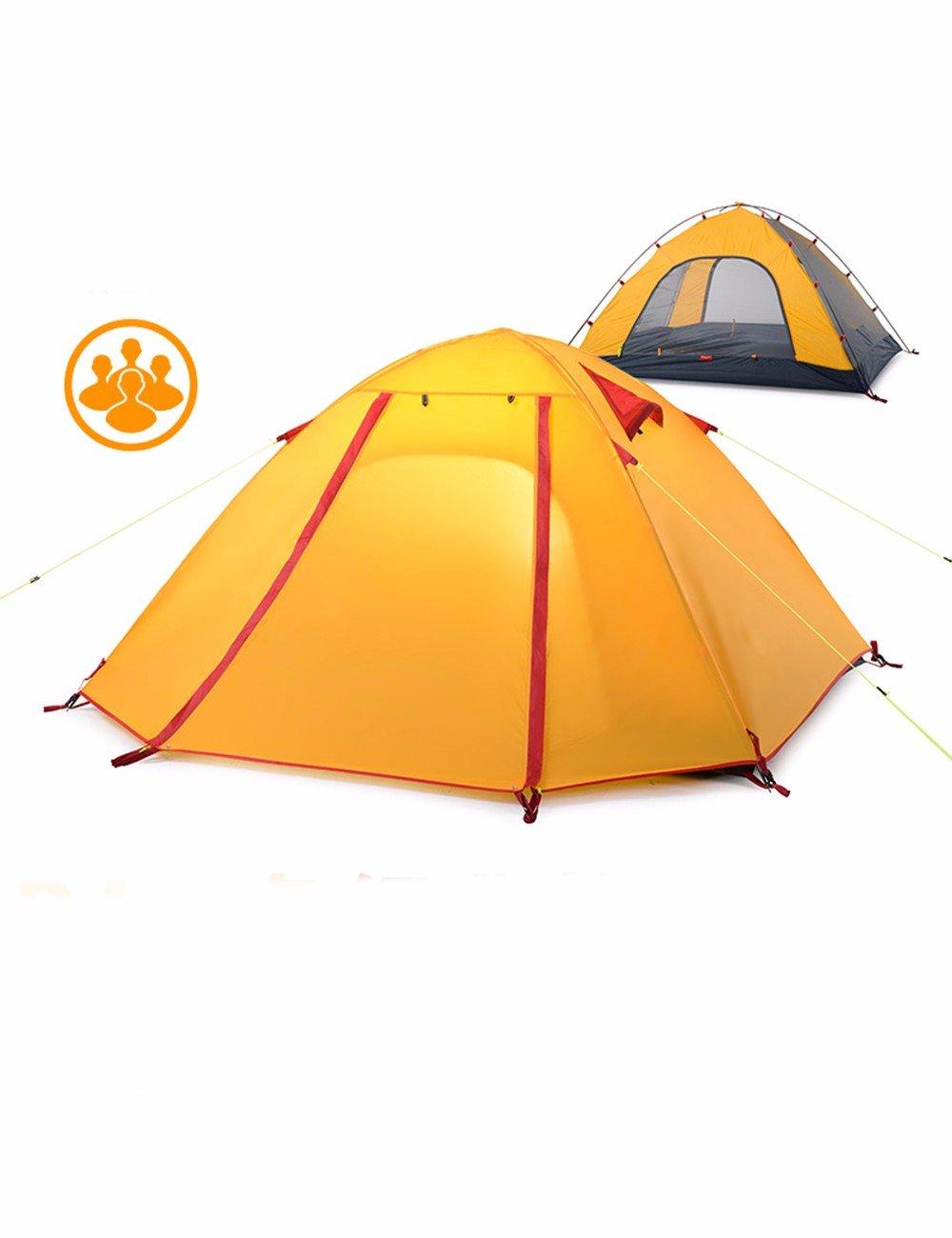SJQKA-Anti-Rainstorm Outdoor Zelt, Outdoor SJQKA-Anti-Rainstorm 3-4 eine Familie von Zelte 2 Doppelzimmer Camping Zelt Paare, die 28cba9