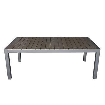 Amazon De Wohaga Aluminium Gartentisch Ausziehbar 205 275x100cm