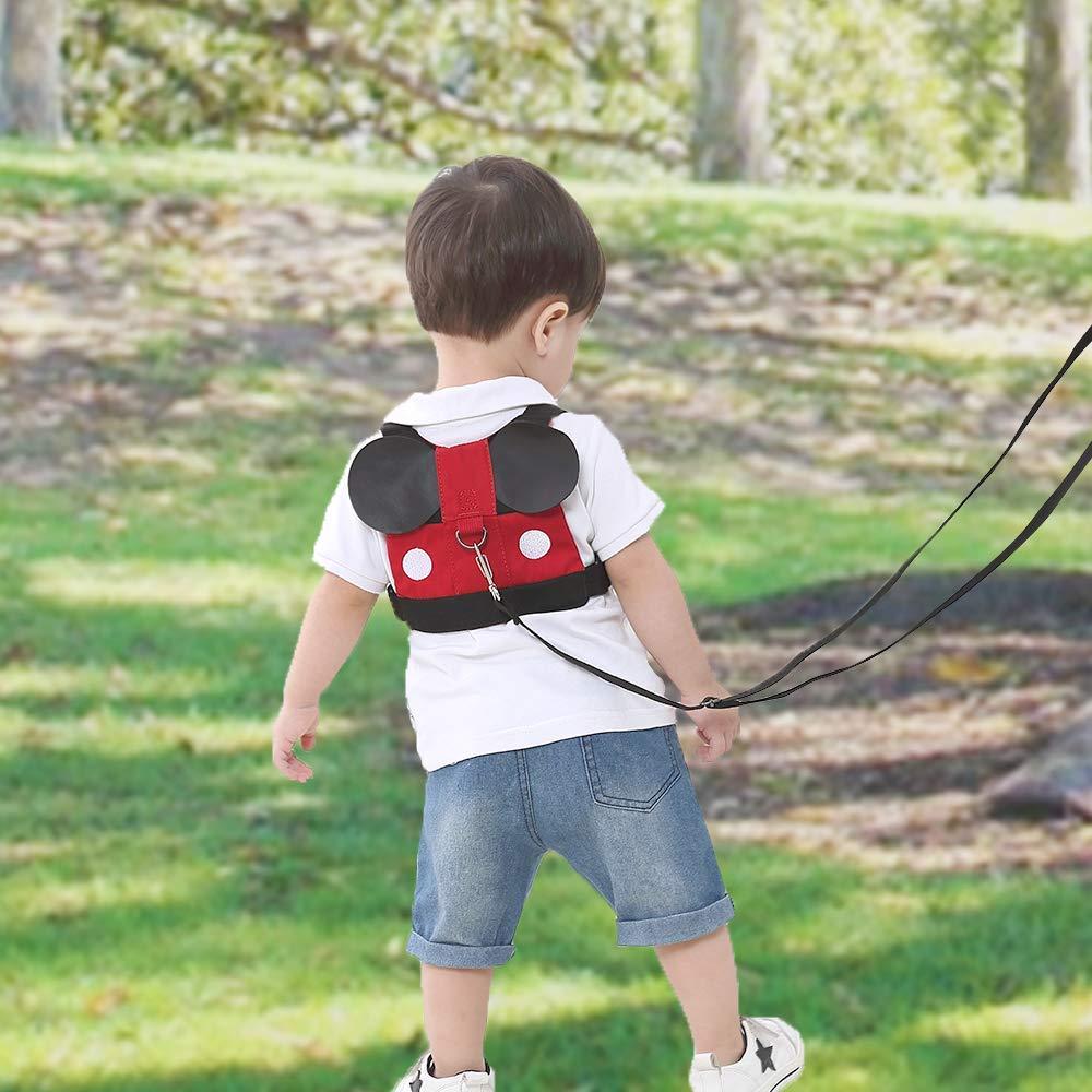 Anti Perdidos Equipo para Beb/é,2 in 1 Walking Arn/és Riendas Aprendiendo Caminar para Ni/ños 0-5 A/ños,Correa Peque/ños Caminar,Arneses Seguridad para Ni/ños Peque/ños,R