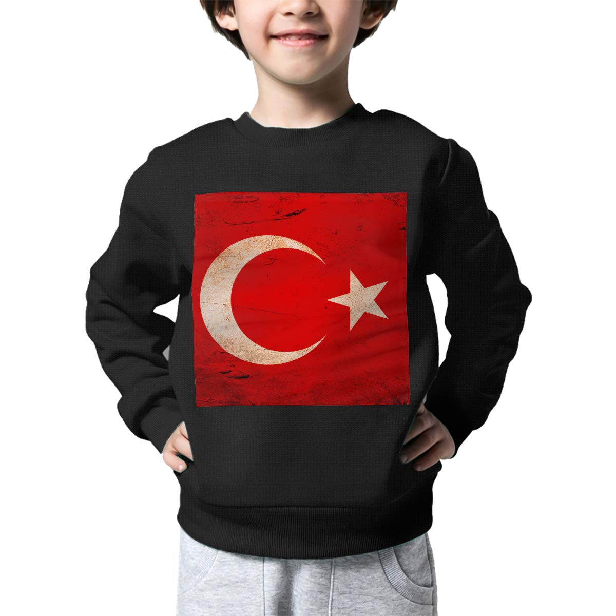 Boys Girls Vintage Turkey Flag Lovely Sweaters Soft Warm Childrens Sweater