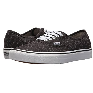 b2756a483d Image Unavailable. Image not available for. Color  Vans Authentic (Marled  Canvas) Fashion Sneakers Black True White ...