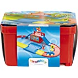 "Viking City Bucket House - Storage Bin Doubles as a Station/Helipad with 2 Vehicles & Track for use with 2.75"" Chubbies Vehicles - Ages 12 Months +"