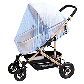 Sky Blue Mosquito Net Netting for Baby Pushchair,Ventilated Portable/&Durable Insect Full Cover Netting for Carriage Stroller Crib Elastic Protection Tent