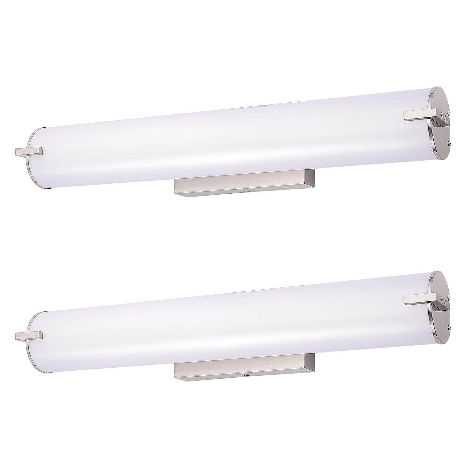 OSTWIN 24 2 pack LED Bathroom Wall Sconce Lighting Fixture, Bathroom Vanity Light 25W 125 W Repl 5000K Day Light, 1750Lm,Vertical or Horizontal Tube, 160 Beam Angle ETL and Energy Star Listed
