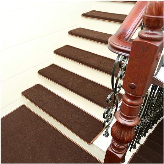 YXUD Alfombra Escalera - 5 Juegos de escaleras Interiores Antideslizantes, Alfombrillas Interiores para Mascotas - Alfombra Antideslizante para escaleras,Brown,90cm*24cm*3cm: Amazon.es: Hogar