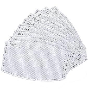 Oferta amazon: 50 unidadesfiltros de carbón activado PM2.5 5 capas reemplazables de papel de filtro antiniebla