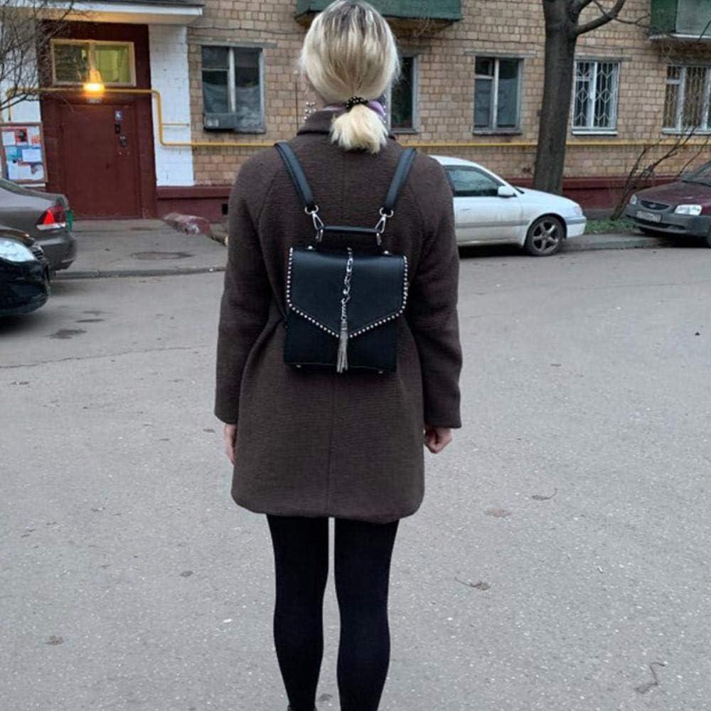ASD Zaini Borse a Spalla Zaino per Ragazze Adolescenti, Beige Black