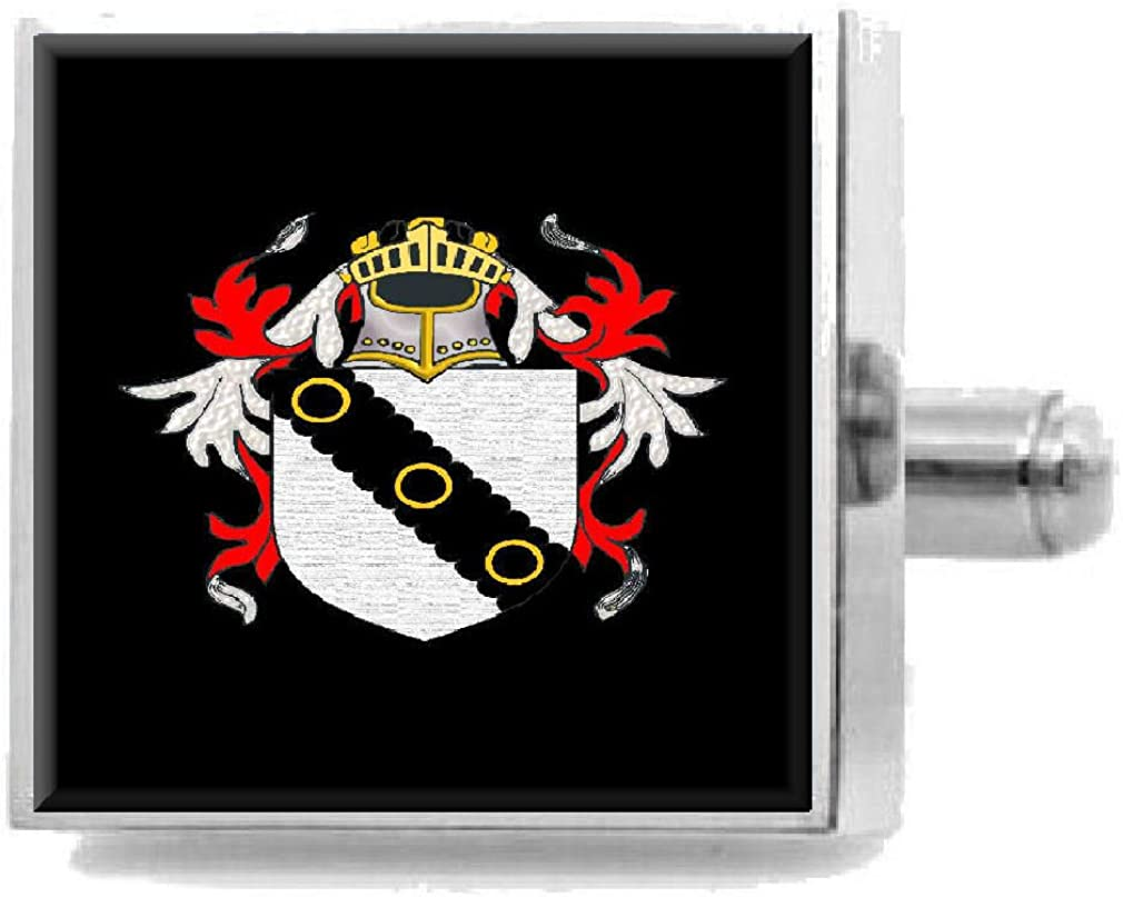 Select Gifts Clarkson England Heraldry Crest Sterling Silver Cufflinks Engraved Box