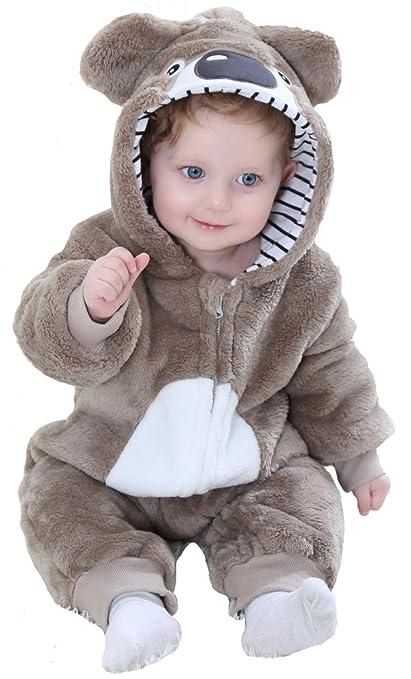 Katara Pijama Bebé Invierno Disfraz Animal (10+ modelos), color koala marrón, 12-18 meses (1778)