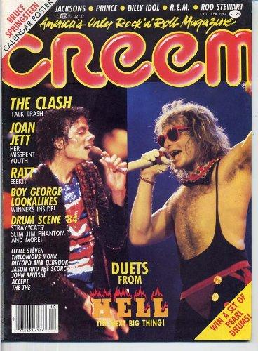 Creem Magazine DUETS The Clash BRUCE SPRINGSTEEN Billy Idol JOAN JETT Boy George RATT Boy George MICHAEL JACKSON October 1984 C (Creem Magazine)