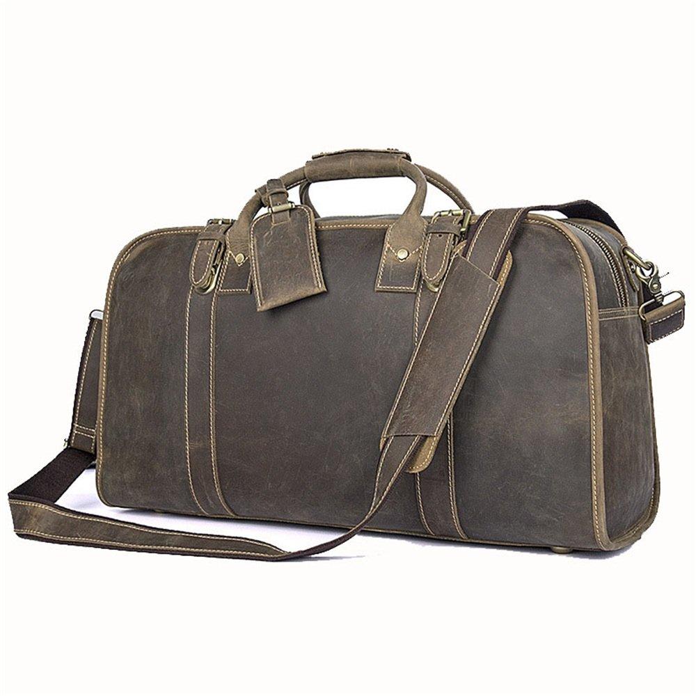 8c7ba70b24ea Amazon.com: FLYSXP Travel Bag Crazy Horse Leather Man Bag Top Layer ...