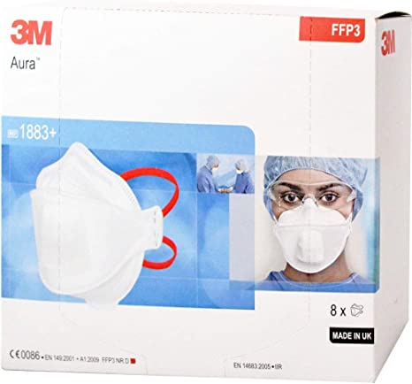 3m medica maschera respiratoria ffp3